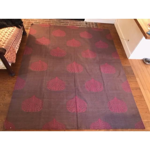 Cotton Madeline Weinrib Raisin Song Rug - 7′11″ × 9′8″ For Sale - Image 7 of 7