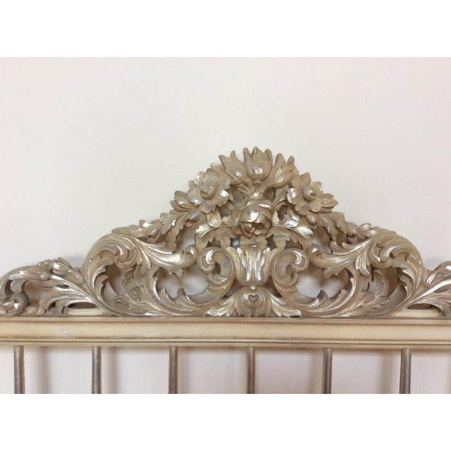 Silvered Accented Carving King Size Headboard - Image 6 of 10