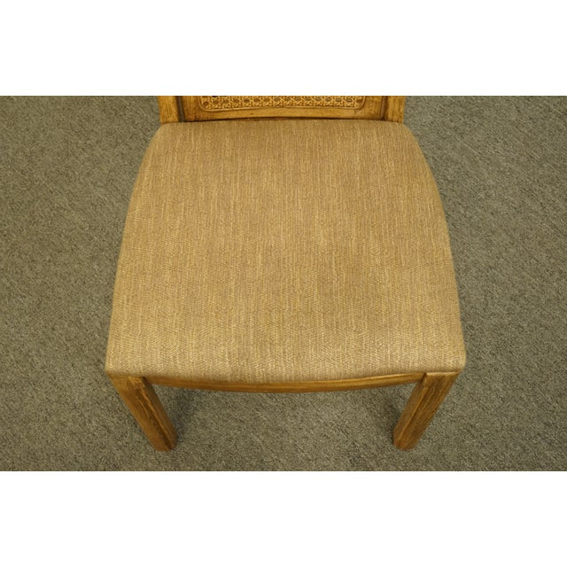 Late 20th Century Vintage Thomasville Furniture Forecast Collection Contemporary Cane Back Dining Side Chair For Sale - Image 5 of 9