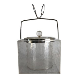 1960s Mid-Century Modern Wilardy Square Lucite Ice Bucket For Sale