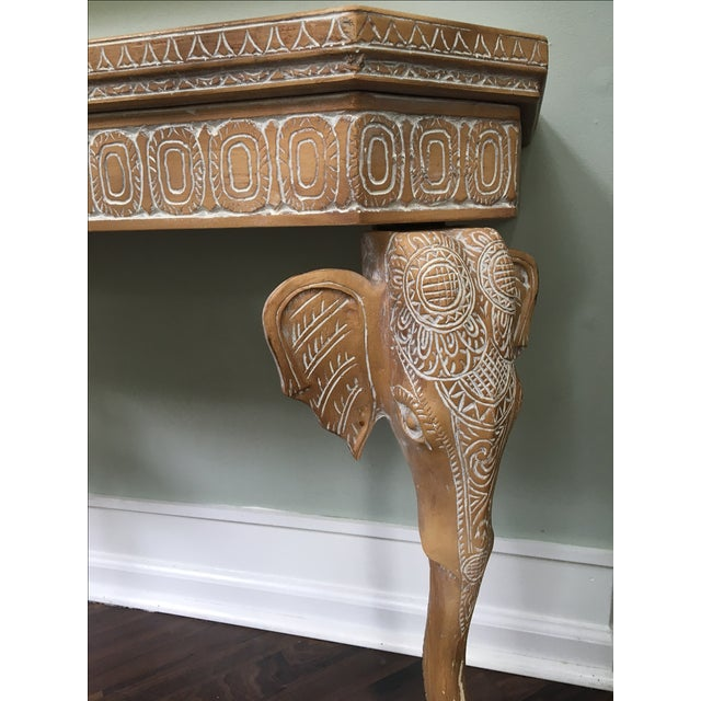 Hand-Carved Elephant Console Table - Image 3 of 11