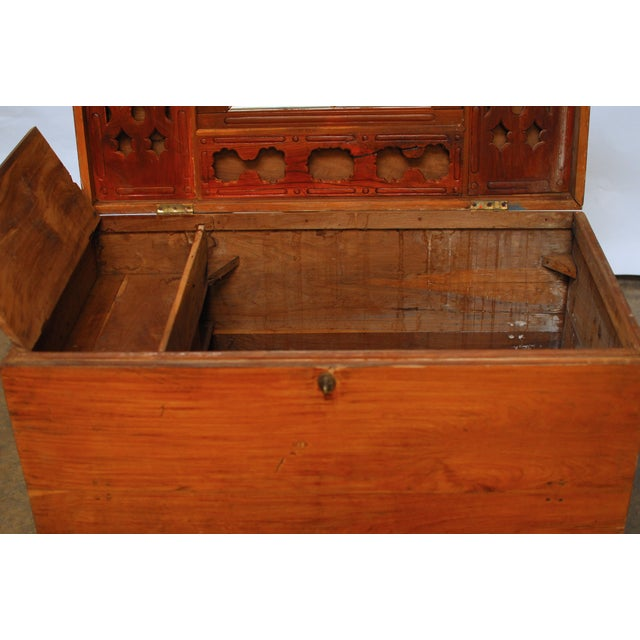 British Colonial Teak Travel Trunk/Chest - Image 9 of 9