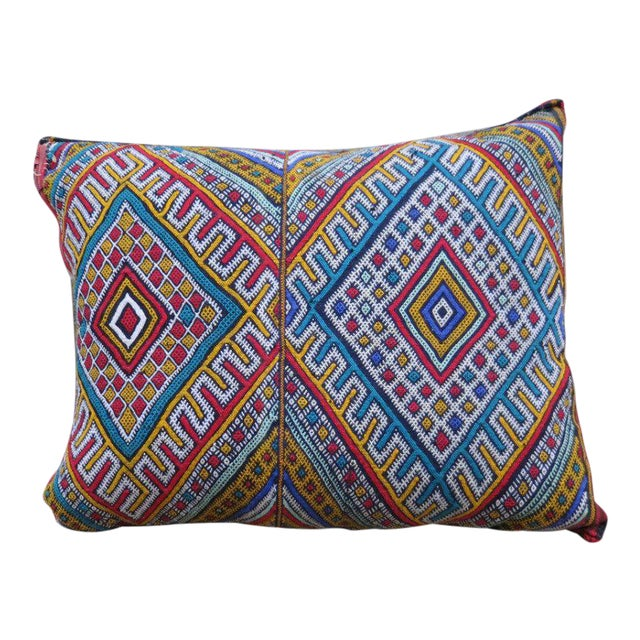 Miami Vice' Moroccan Berber Wool Pillow For Sale