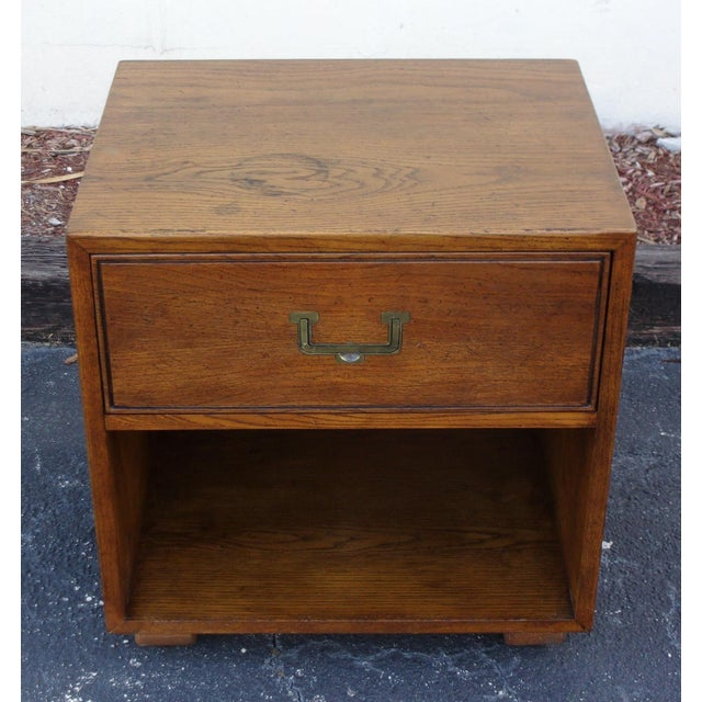 Mid-Century Modern Campaign Style Nightstand - Image 3 of 4