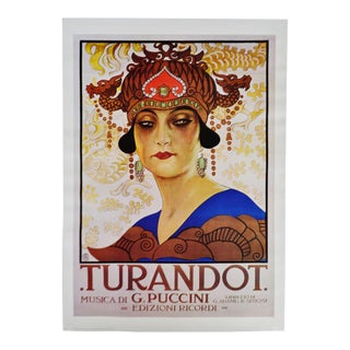 Vintage G. Puccini Turandot Italian Opera Poster