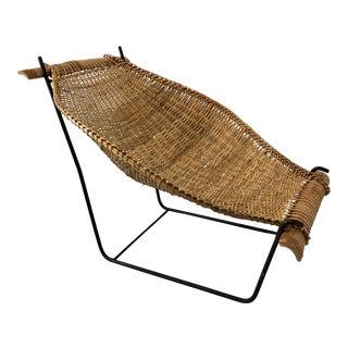 Woven Sling Chair Att. Danny Ho Fong for Tropi-Cal For Sale