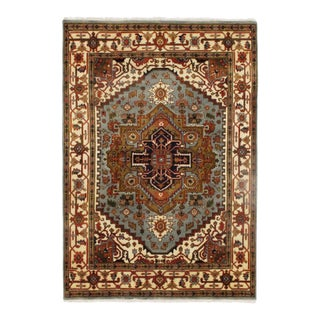 Traditional Pasargad Super Fine Serapi Hand-Knotted Rug - 6′ × 8′7""