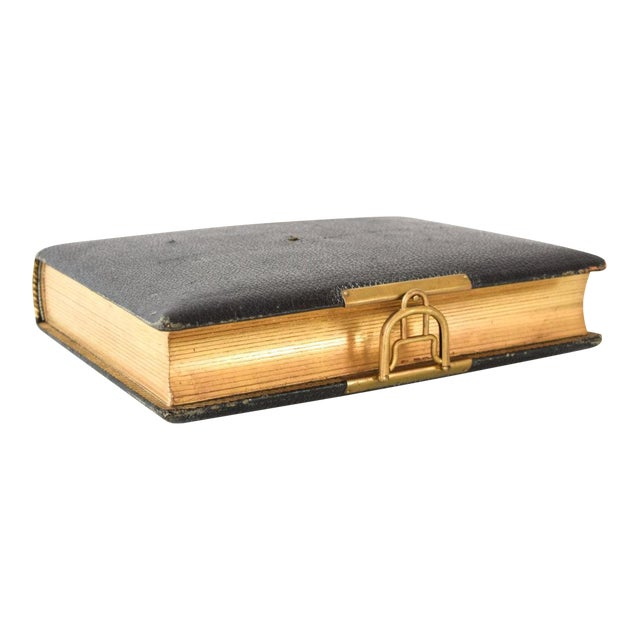 Antique English Victorian Photo Album with Brass Clasp, 1890s For Sale