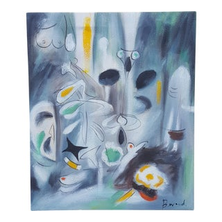 Mid-Century Modern Abstract Expressionism Painting For Sale