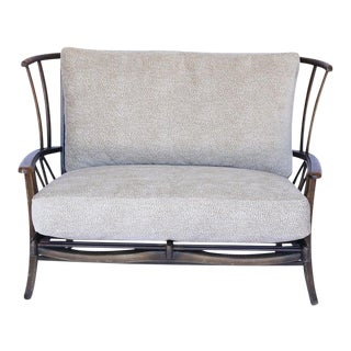 Ercol 2 Seater Settee with Upholstered Cushions For Sale