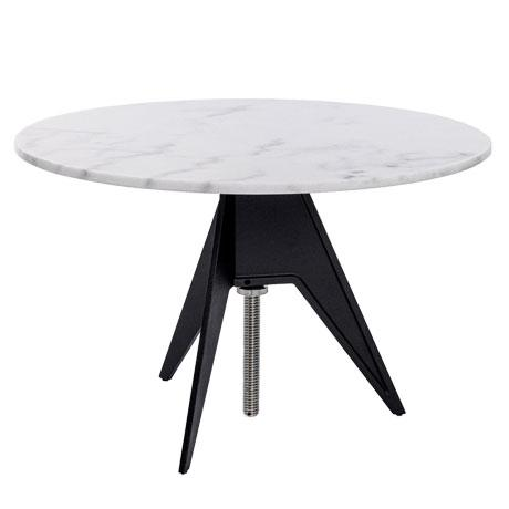2020s Tom Dixon Screw Table with White Marble Top For Sale - Image 5 of 5