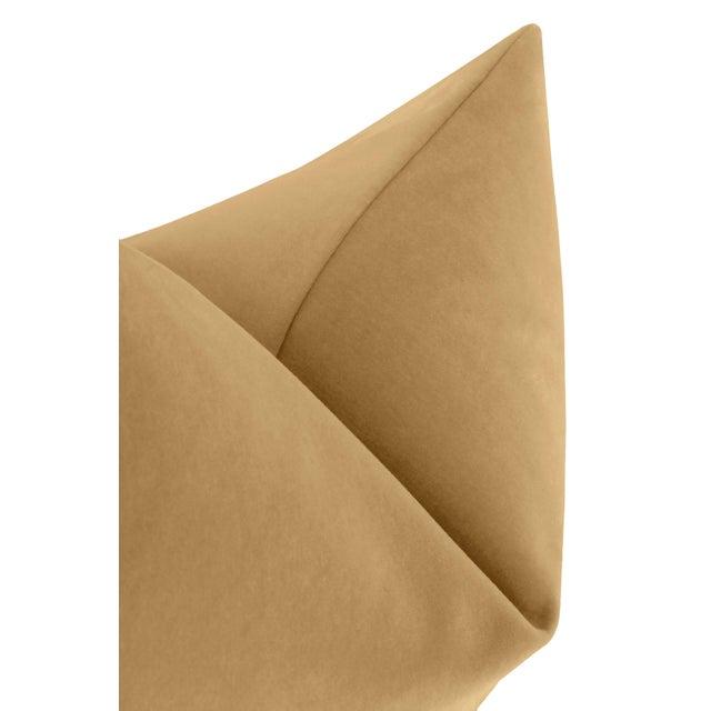 """22"""" Camel Italian Velvet Pillows - a Pair For Sale - Image 4 of 5"""