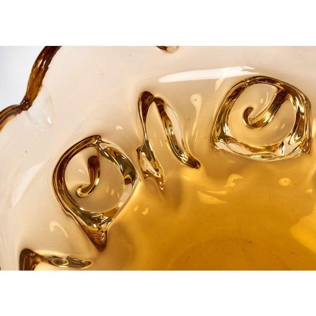 Circa 1950 Murano Glass Amber Bowl For Sale - Image 10 of 10