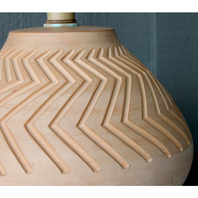 Native American Art Pottery Lamp - Image 8 of 11