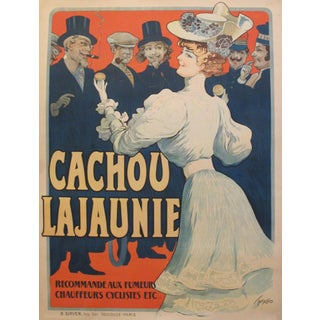 1900s French Belle Epoque Poster, Cachou Lajaunie For Sale