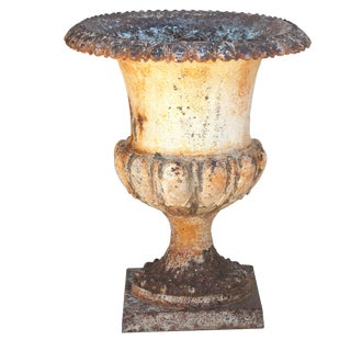 European Rustic Garden Urn For Sale