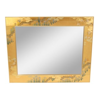 La Barge Chinoiserie Style Mirror, Signed C. Adams For Sale