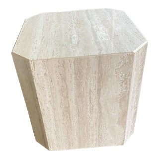 Travertine Side Table For Sale