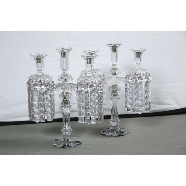 Mid-Century Crystal Candleholders - a Pair For Sale - Image 9 of 9