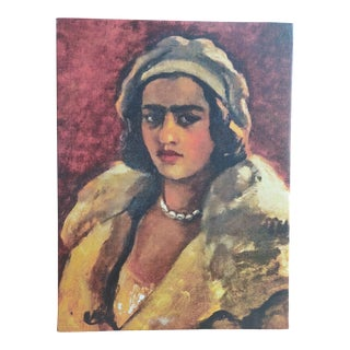 Amrita Sher-Gil Self Portrait #3 - Canvas on Frame (Reproduction Print) For Sale
