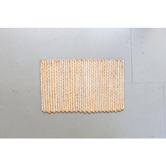 Contemporary Modern Striped Jute Mat- 2′6″ × 4′ For Sale - Image 3 of 3