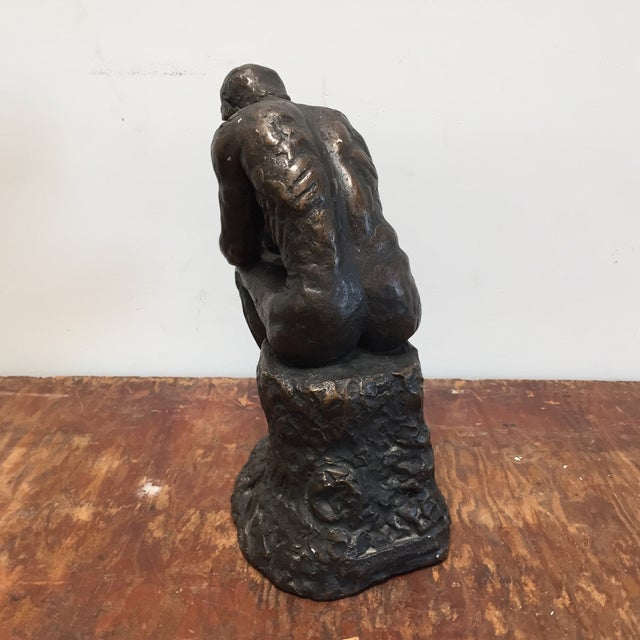 Austin Prod. 1964 Rodin Thinker Statue - Image 4 of 11