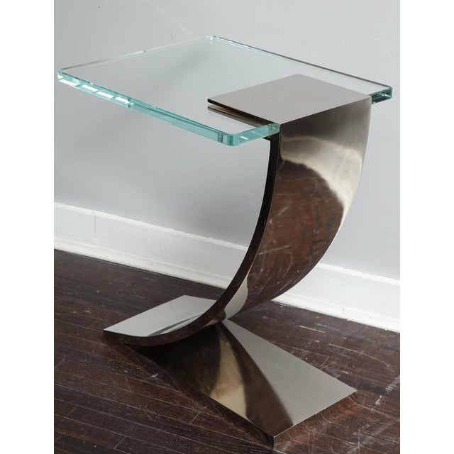 2010s Custom Z Side Table For Sale - Image 5 of 6