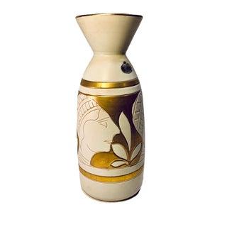 Vintage Guildcraft Italian Egyptian Revival Mid Century Vase For Sale