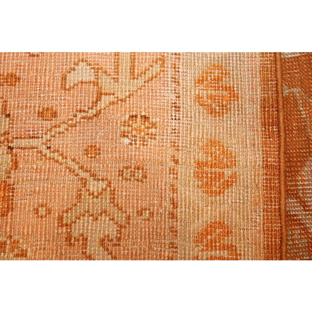 Islamic Antique Turkish Oushak Rug - 9′ × 12′ For Sale - Image 3 of 12