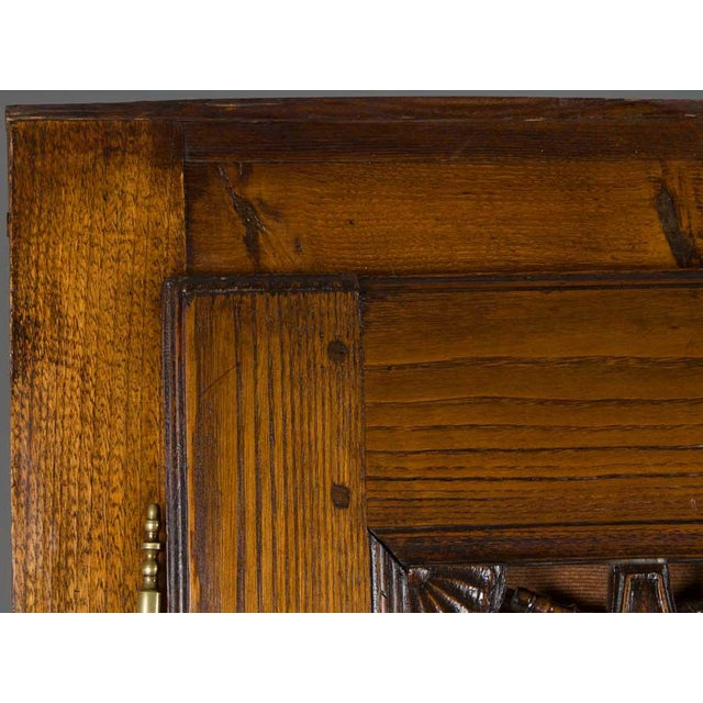 19th Century Jacobean Carved Oak Wardrobe For Sale - Image 11 of 12