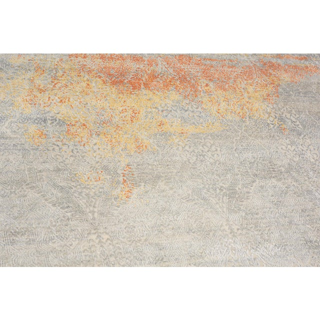 Early 21st Century Schumacher Sakura Hand-Knotted Area Rug in Wool Silk, Patterson Flynn Martin For Sale - Image 5 of 8