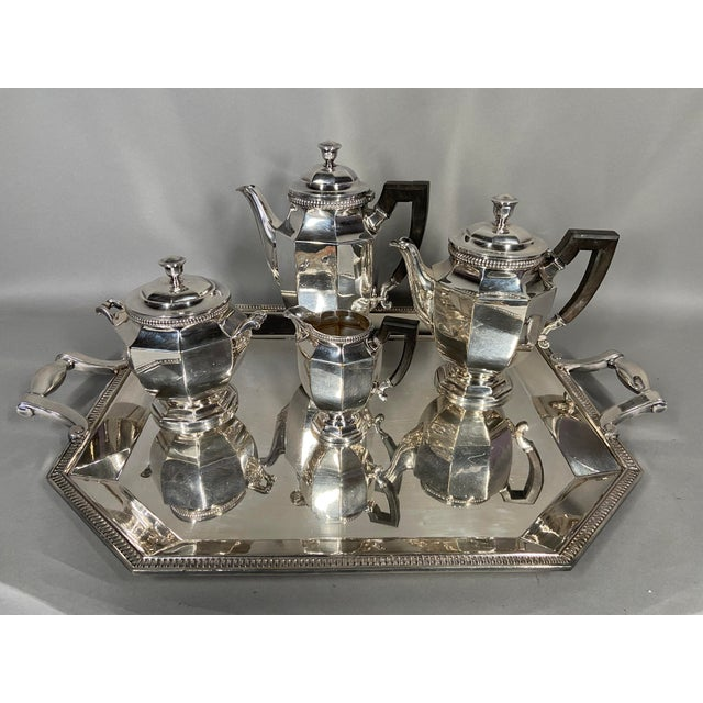Antique 19th Century Christofle Silver-Plated Tea Set - Set of 5 For Sale - Image 11 of 11