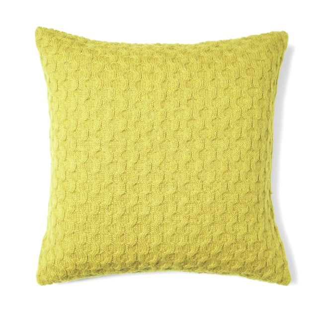 Mid-Century Modern 100% Baby Alpaca Theo Square Pillow For Sale - Image 3 of 3