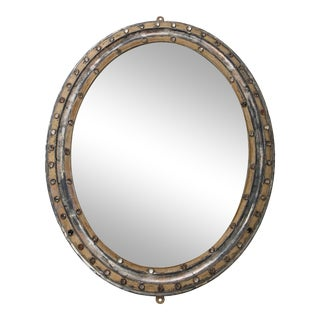 Early 19th Century Georgian Style Oval Mirror For Sale