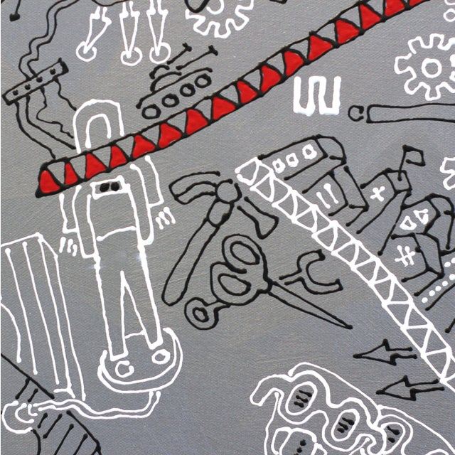 """Canvas """"The Silver Rope"""" Original Artwork by R Hunt For Sale - Image 7 of 12"""