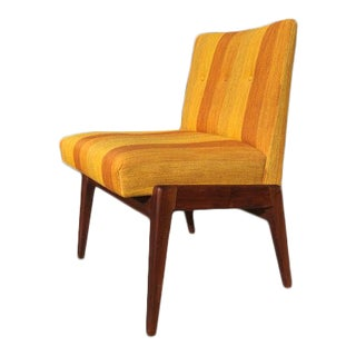 1970s Vintage Jens Risom Upholstered Side Chair For Sale