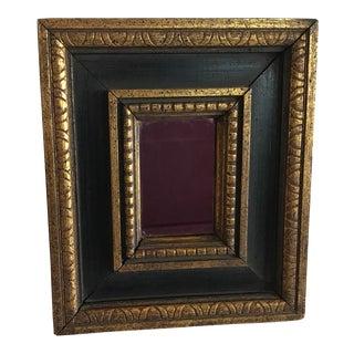 Vintage Petite Wood Frame Gilded Mirror For Sale