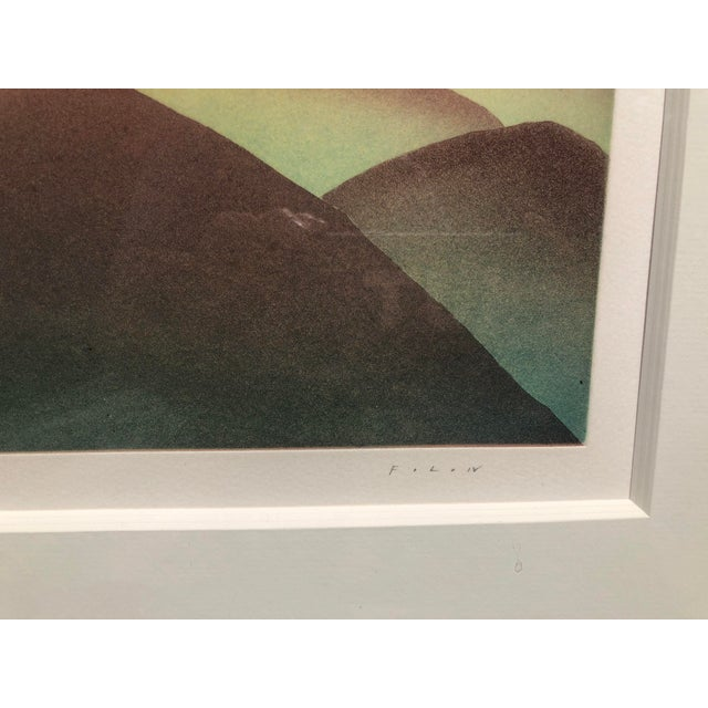 "Original, Hand-Signed, ""Over the Rainbow"" Aquatint Art Etching by Jean-Michel Folon For Sale - Image 4 of 4"