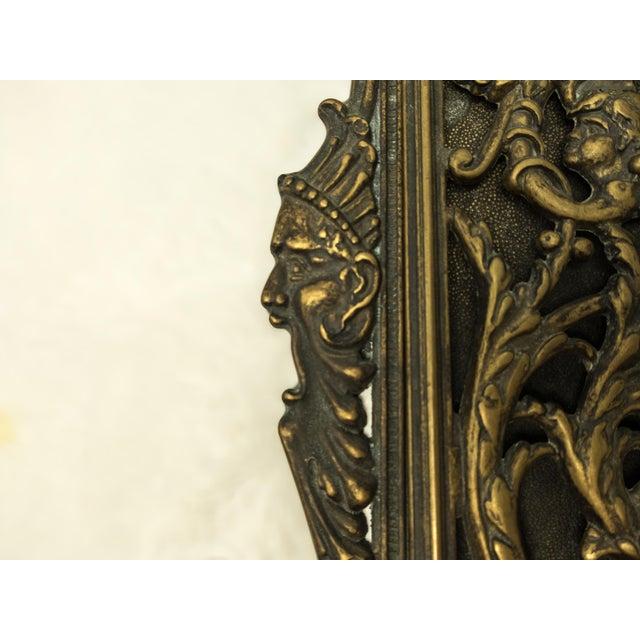 Italian Art Nouveau Bronze Letter Holder For Sale In Houston - Image 6 of 7