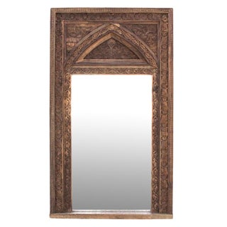 Natural Architectural Mirror For Sale