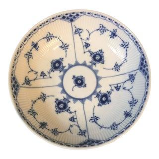 Georges Royal Copenhagen Blue Fluted Half Lace Deep Plate For Sale