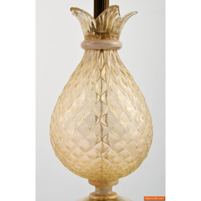 Vintage Mid Century Barovier & Toso Style Lamps- A Pair For Sale In West Palm - Image 6 of 10