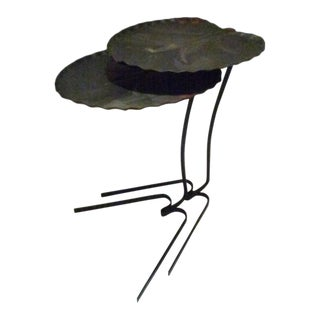 Mid Century Salterini Iron Lily Pad Nesting Tables For Sale