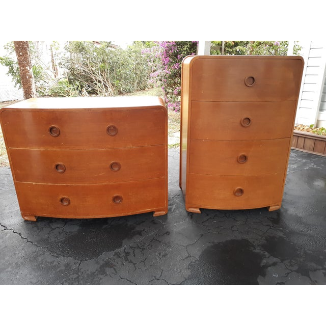 1930s Art Deco Count Alexis De Sakhnoffsky Chests of Drawers - Set of 2 For Sale - Image 11 of 11