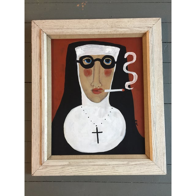 "Rose Walton ""Smoking Nun"" Original Painting - Image 2 of 5"