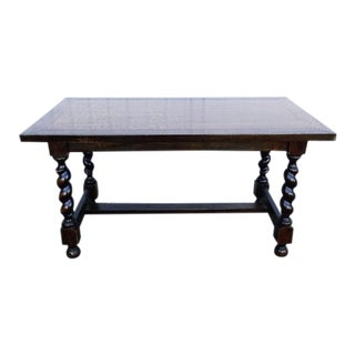 Vintage Oak Sofa Side Coffee Desk Table