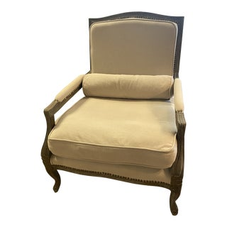Reproduction Tan Bergere Chair For Sale