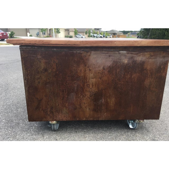 Metal 1980s Industrial Reclaimed Flat File Coffee Table For Sale - Image 7 of 13