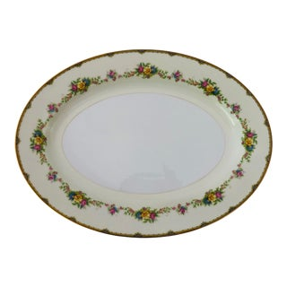 "Elegant Fine China Noritake Marked ""m"" Japan Floral Design Large Platter For Sale"