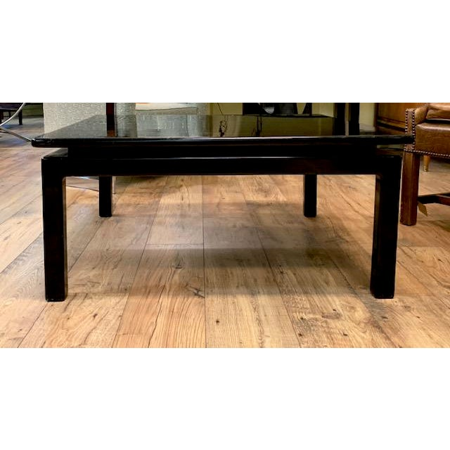 Mid Century Italian Black Lacquered Float Top Coffee Table For Sale - Image 4 of 10